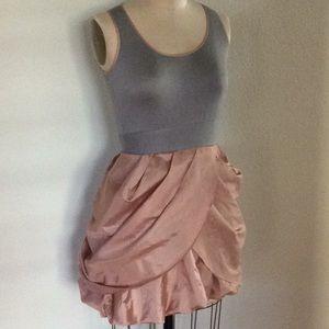 Twelve x Twelve  gray and peach dress